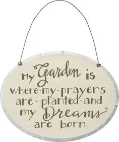 Tin Ornament - My Garden | $10.35 www.lakerabuntrading.com