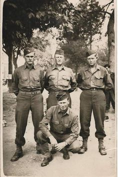 WW2 9th division infantry soldiers. The one sitting is my father. He received the Bronze Star for evacuating the dead under shell fire in 1943.