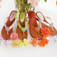 Convertibles Footwear  Sherbert colors- snap to change the bling