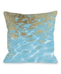 Aqua & Tan Pristine Waters Throw Pillow