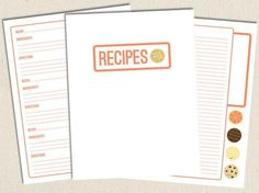 Sweet Free Printable Recipe Pages | The best recipe card templates for bakers! Get these free printables today <3