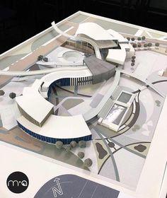 Concept Models Architecture, Architecture Model Making, Cultural Architecture, Landscape Architecture Design, Futuristic Architecture, School Architecture, Architecture Plan, Amazing Architecture, Hospital Design