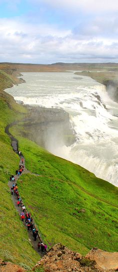 Gullfoss Waterfall - Iceland /// #travel #wanderlust #earth