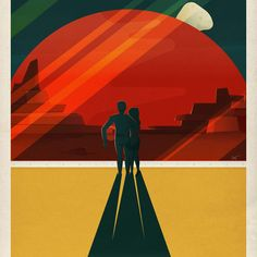 SpaceX Made Vintage-Inspired Mars Travel Posters