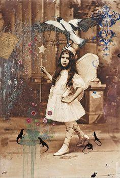 "The Young Sorceress | mixed media | 60 x 40"""