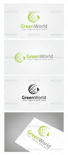 Green World Logo Template — Photoshop PSD #ecology #global • Available here → https://graphicriver.net/item/green-world-logo-template/7181233?ref=pxcr