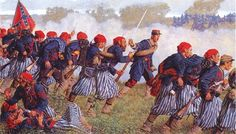 The Louisiana Tigers Was The Name Given To Certain Louisiana Regiments During The American Civil War, As the War Progressed they Developed a Reputation as Fearless, Hard-fighting Shock-fighting Military Art, Military History, Military Uniforms, Military Veterans, American Civil War, American History, American Soldiers, Louisiana, Civil War Art