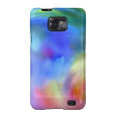 Rainbow art samsung galaxy SII cover