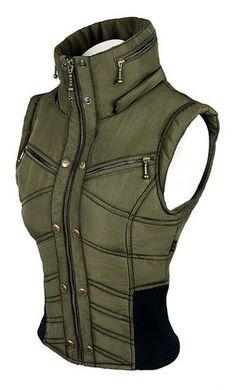 Womens Puma Vest - Army Green