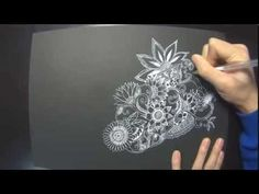 Noah's Zentangle drawing (1/3) - YouTube