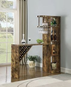 Home Bar Rooms, Diy Home Bar, Home Bar Decor, Home Bars, Diy Bar, Mini Bar At Home, Small Bars For Home, Diy Furniture Table, Coaster Furniture