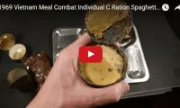 1969 Vietnam Meal Combat Individual C Ration Spaghetti Vintage MRE Review Oldest War Food  Fascinating stuff. Ever wanted to know what those poor soldiers ate or what their meals really looked like way back when? You know, those meals issued by the United States Armed Forces from around the late 1950s? Well check out this 1969 C-ration meal: spaghetti with ground meat, that you can almost smell. (Barf)...