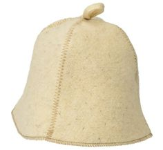 Wool Hat for Sauna Simple White Unisex * Detailed information can be found by clicking on the VISIT button
