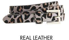 Pin for Later: Leopard-Prints sind tatsächlich gemacht für jedermann Pieces Gürtel Pieces 'Sefora' schmaler Gürtel aus Leder in grauem Leopardenmuster (21,43 €)