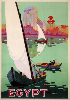 #traveldreamery - Vintage Egypt poster