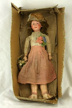 Antique German Bisque Heubach Doll in Original Box ca1910 $950 & counting...