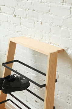 Noli Shoe Rack Noli Shoe Rack from Furniture Maison - Modern, Mid-Century and Scandinavian Oak Shoe Storage, Metal Shoe Rack, Diy Shoe Rack, Bench With Shoe Storage, Small Shoe Rack, Wooden Shoe Racks, Shoe Bench, Rack Design, Storage Design