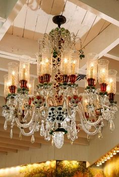 19th century Baccarat chandelier...love