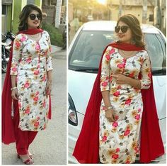 Image may contain: 3 people, people standing Neck Designs For Suits, Dress Neck Designs, Blouse Designs, Kurti Sleeves Design, Kurta Neck Design, Indian Designer Suits, Designer Salwar Suits, Pakistani Dresses, Indian Dresses
