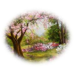 mes tubes paysages printemps ❤ liked on Polyvore featuring spring and backgrounds