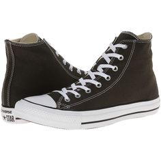 Converse Chuck Taylor All Star Seasonal Hi Classic Shoes, Black ($31) ❤ liked on Polyvore featuring shoes, black, high top shoes, converse high tops, black rubber shoes, black hi tops and black shoes