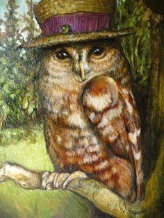 Fine Creatures for your delight: Miss Hazel Delphinium Potterton Smith Owl Artwork, Owl Books, Whimsical Owl, Owl Illustration, Paper Owls, Owl Pictures, Wise Owl, Owl Print, Delphinium