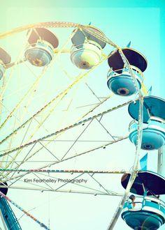 Carnival Photo Blue Carousel  - Fine Art Photography, carnival ride, carousel, nursery decor, nursery art, ferris wheel, carnival art print by kimfearheiley on Etsy https://www.etsy.com/listing/94336950/carnival-photo-blue-carousel-fine-art