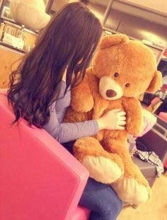 teddy and love image Cute Girl Poses, Cute Girl Photo, Girl Photo Poses, Cute Girls, Stylish Girls Photos, Stylish Girl Pic, Stylish Dp, Teenage Girl Photography, Girl Photography Poses