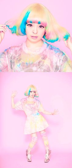 Kyary Pamyu Pamyu, she's so cute  Kawaii fashion ~ j fashion ~ harajuku ~ gyaru ~ fairy kei ~ lolita fashion ~ gothic lolita ~ pastel goth ~ rainbow hair