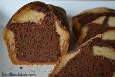 Nouvelle recette de gâteau sans GLO (sans gluten, lait - PLV ou lactose, ni oeuf) & vegan sur le blog : un marbré choco-vanille, pour régaler petits et grands gourmands au goûter.