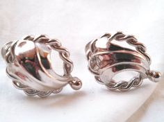 Women's costume jewelry silver tone design metal by VignetteJewel, $5.50