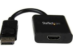 StarTech.com DP2HDS DisplayPort Male to HDMI Female Active Adapter and Audio Converter 1920x1200 by StarTech. $30.95. Connect an HDMI monitor to a DisplayPort Video Source. The DP2HDS Adapter converts DisplayPort to HDMI with audio pass-through support, enabling you to connect a desktop or laptop computer that is equipped with DisplayPort A/V output to an HDMI monitor, projector, or display. Unlike a passive adapter, the DP2HDS actively converts single mode and du...