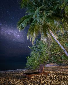 Likes, 38 Comments - Steffen Silent Night, Under The Stars, Maldives, Palm Trees, Canon, Paradise, Sunset, Day, Photography
