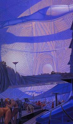 translucentmind:  Dyson Sphere concept // Syd Mead