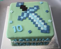 Minecraft Cake - Diamond Sword from Minecraft - Butter and Bliss