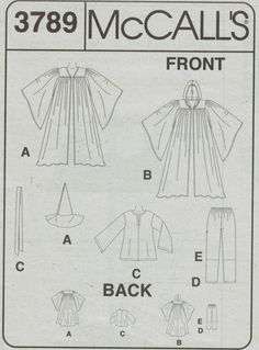 Image result for professor mcgonagall costume pattern