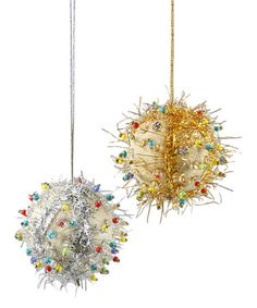 Love this Shimmer Ball Ornament Set by Cody Foster & Co. on #zulily! #zulilyfinds