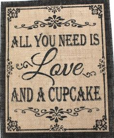 Rustic Chic Country Burlap Wedding Sign ALL YOU NEED IS LOVE AND A ...