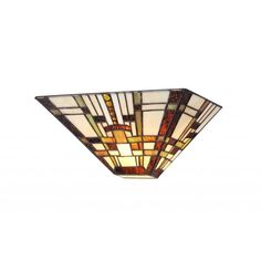 This Tiffany Style Mission 1-light Wall Sconce will add warmth and color to any room and will complement many decors. This piece is made from over 95 hand-cut pieces of art glass.