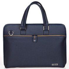 Navy Briefcase for Men Business Bags Mens Tote Bag Messenger Bag CHANCHAN 8822