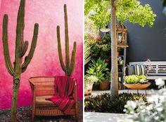 mur de couleur jardin