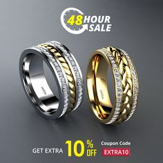 Hurry....! Exclusive 48 HOUR SALE  Shop diamond wedding & anniversary rings and GET EXTRA 10% OFF.