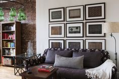 A great couch and use of pattern