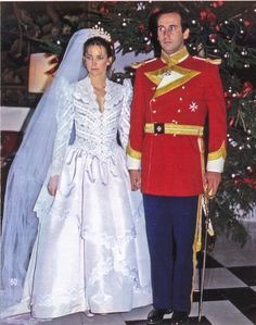 a gorgeous diamond and pearl tiara worn by Maria de Suelves y Figueroa when she wed Francisco Franco y Martinez-Bordiu, 11th Marques de Villaverde, on 18 December 1981