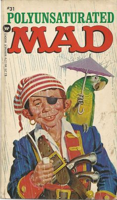 Author: Albert B.Feldstein Publisher: Warner Year: 1971 Print: 1 Cover Price: Condition: Good Plus Genre: Humor Alfred E Neuman, Character Pumpkins, Mad Magazine, Magazine Covers, Mad World, Halloween Doll, You Mad, Humor, Comic Covers