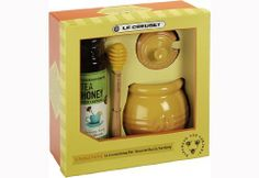 Le Creuset Stoneware Honey Pot with Savannah Bee Co. Honey by Le Creuset. $39.95. Stoneware pot holds up to 16-Ounce of honey. Special cut-out lid to fit its accompanying Silicone honey dipper. Dishwasher-safe; microwave-safe; oven-safe up to 500-Degree F. Non-porous enamel finish; resists odors, staining, chipping, and cracking. Includes Savannah Bee Co. Honey. A lovely addition to any kitchen collection, this small stoneware pot holds up to 16 Ounces of honey. The round-sh...