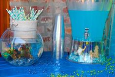 Mermaid Party - Under the Sea Water and Fish Bowl