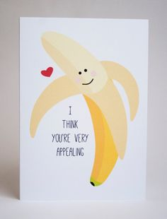 Hey, I found this really awesome Etsy listing at https://www.etsy.com/listing/176768446/banana-valentines-day-greeting-card