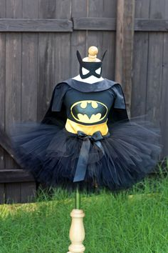 Batgirl Super Hero Girl Tutu Costume by SocktopusCreations on Etsy, $71.00