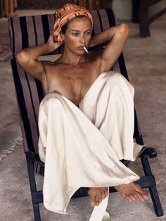 """vogue-at-heart: """" Carolyn Murphy in """"Secret Hideaway"""" for Interview Magazine, March 2016 Photographed by Mikael Jansson """" Carolyn Murphy, Looks Street Style, Looks Style, Secret Hideaway, Beautiful People, Beautiful Women, Spring Summer, Summer Beach, Summer Days"""
